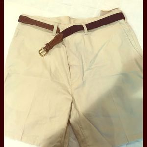 Men's casual shorts with belt size 36